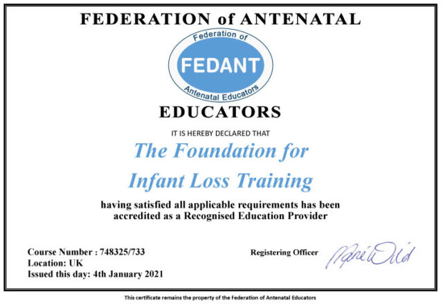 Recognised Education Provider with FEDANT!